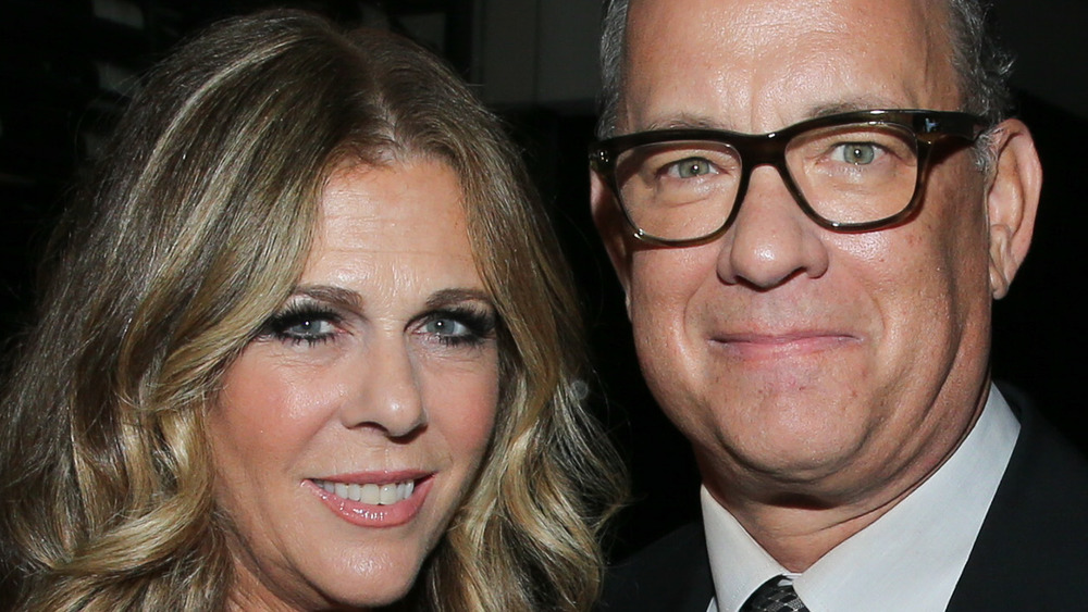 Tom Hanks and Rita Wilson at an event