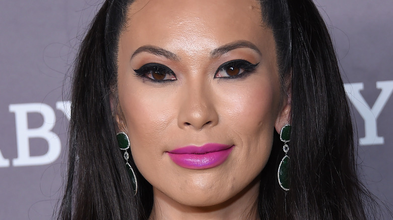 Christine Chiu wearing pink lipstick