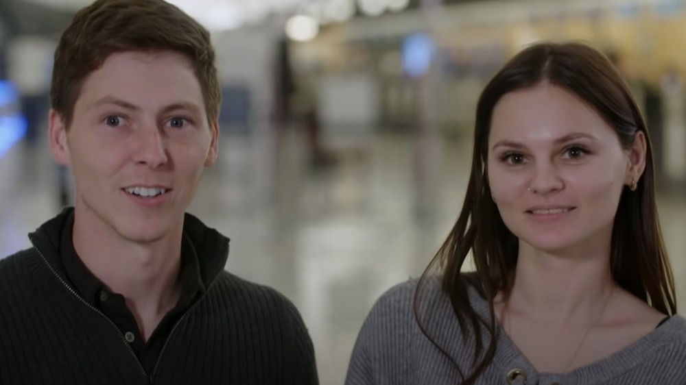Brandon Gibbs and Julia Trubkina speaking during an interview