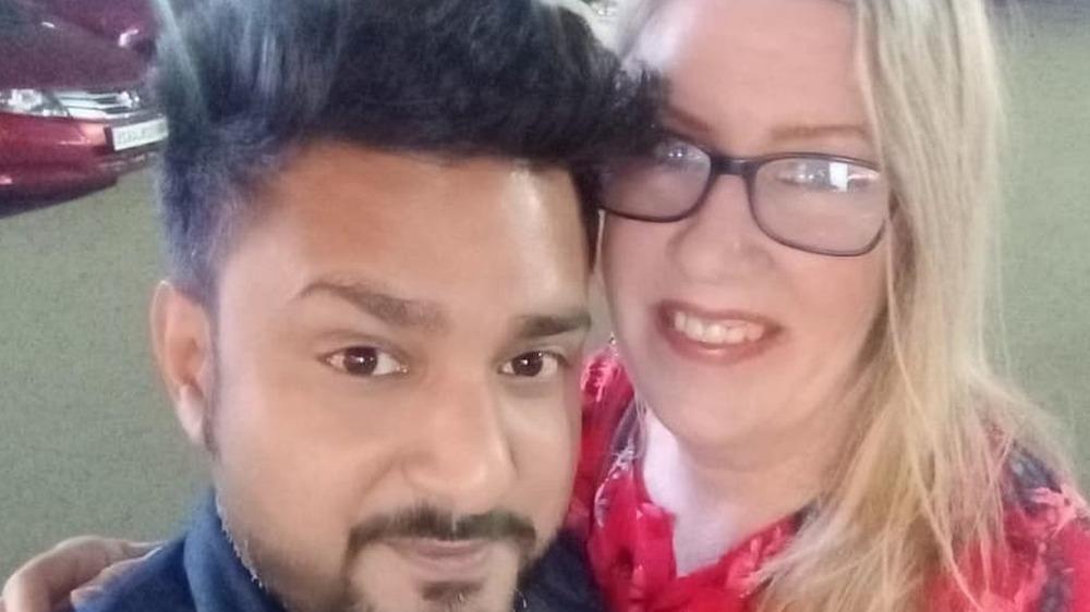 Jenny Slatten and Sumit Singh take a selfie