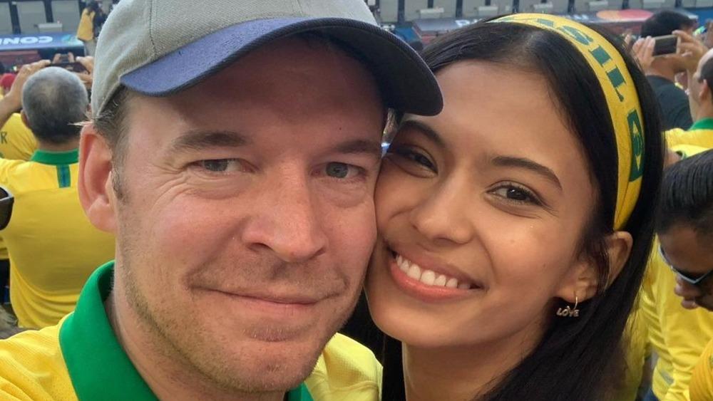 Michael and Juliana take a selfie at Brazil's Estadio Maracaná