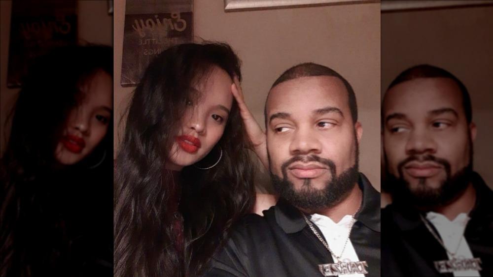 Tarik Myers and Hazel Cagalitan selfie