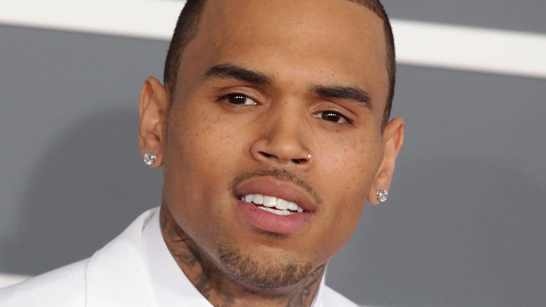 Chris Brown posing