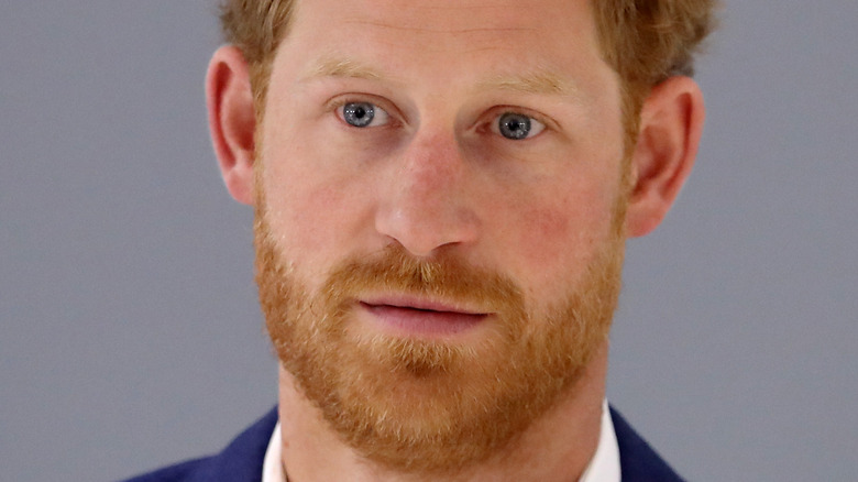 Prince Harry looking spacey