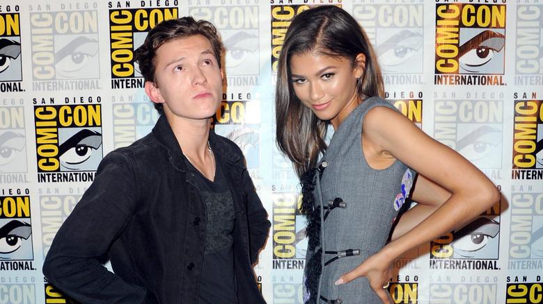 Tom Holland and Zendaya at Comic Con, posing