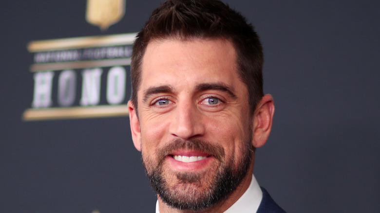 Aaron Rodgers attends the NFL Honors at University of Minnesota