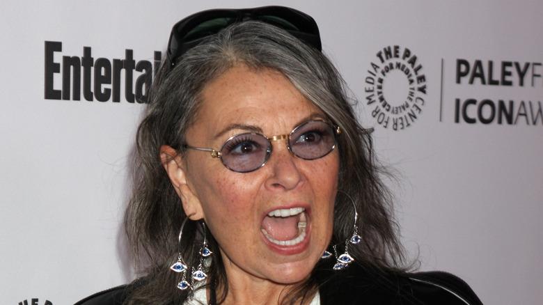 Roseanne Barr yelling