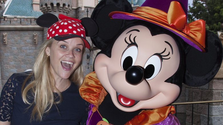 Reese Witherspoon and Minnie Mouse