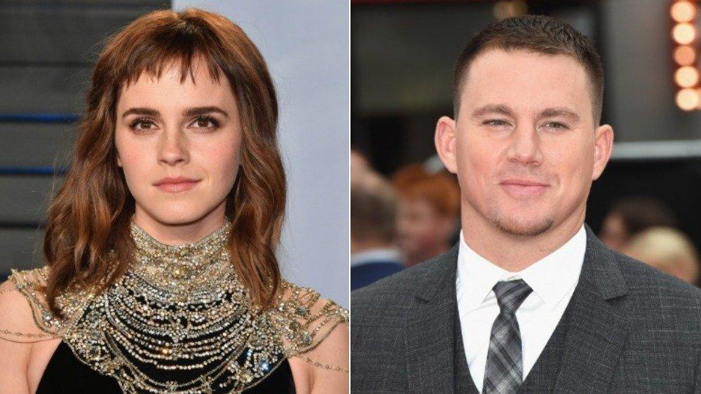 Split image of Emma Watson and Channing Tatum