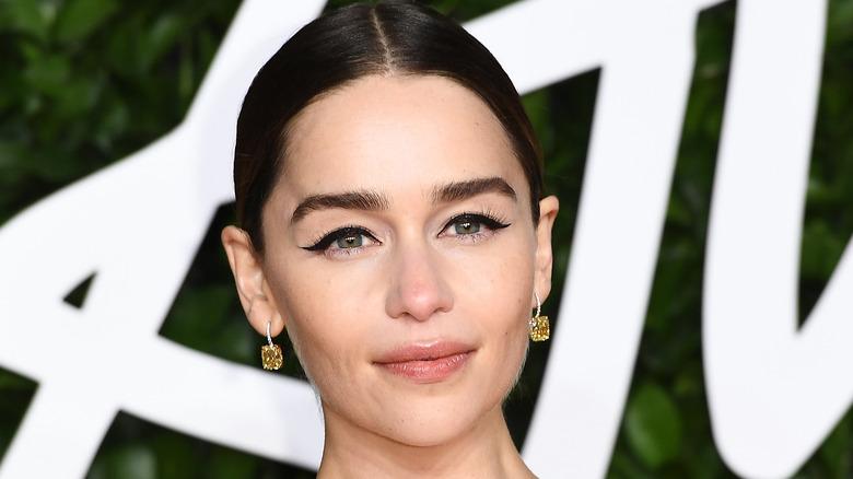 Emilia Clarke poses