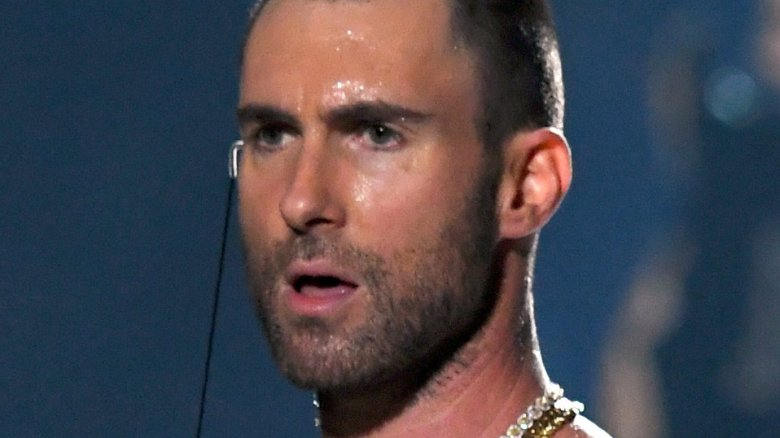 Maroon 5's Adam Levine at the Super Bowl halftime show