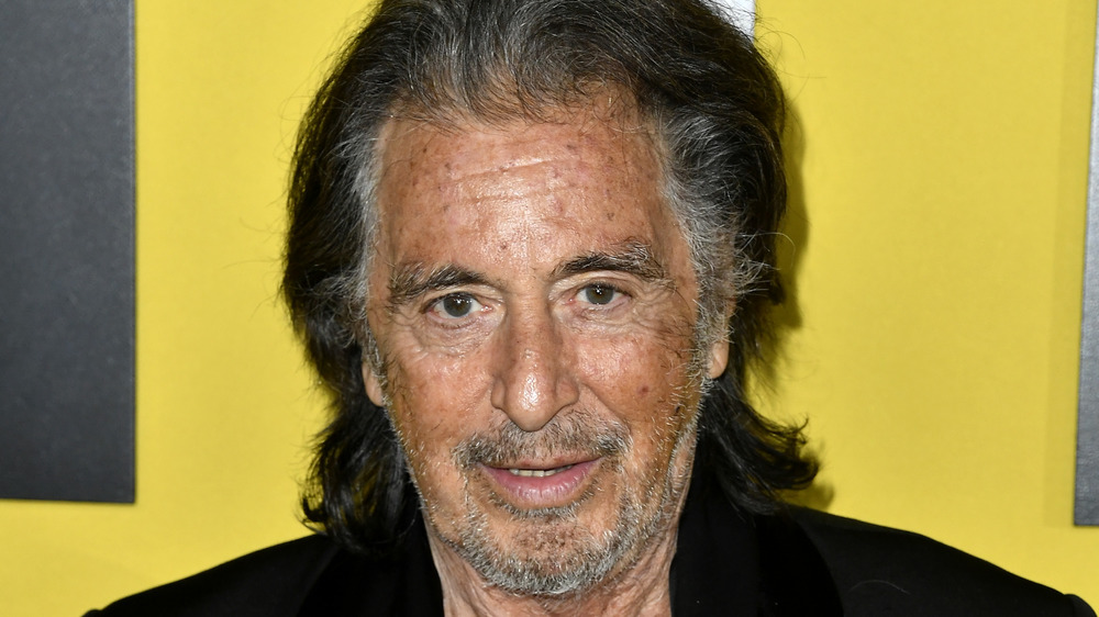 Al Pacino staring in front