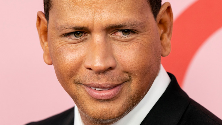 Alex Rodriguez looking off to the side