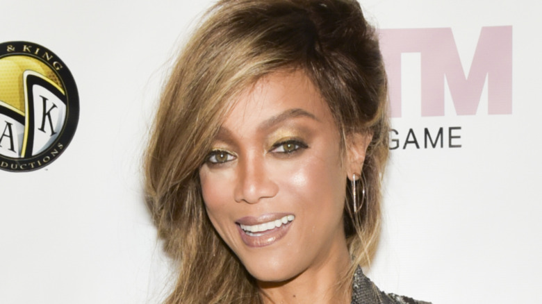 """Tyra Banks arrives at the """"America's Next Top Model"""" mobile game release"""