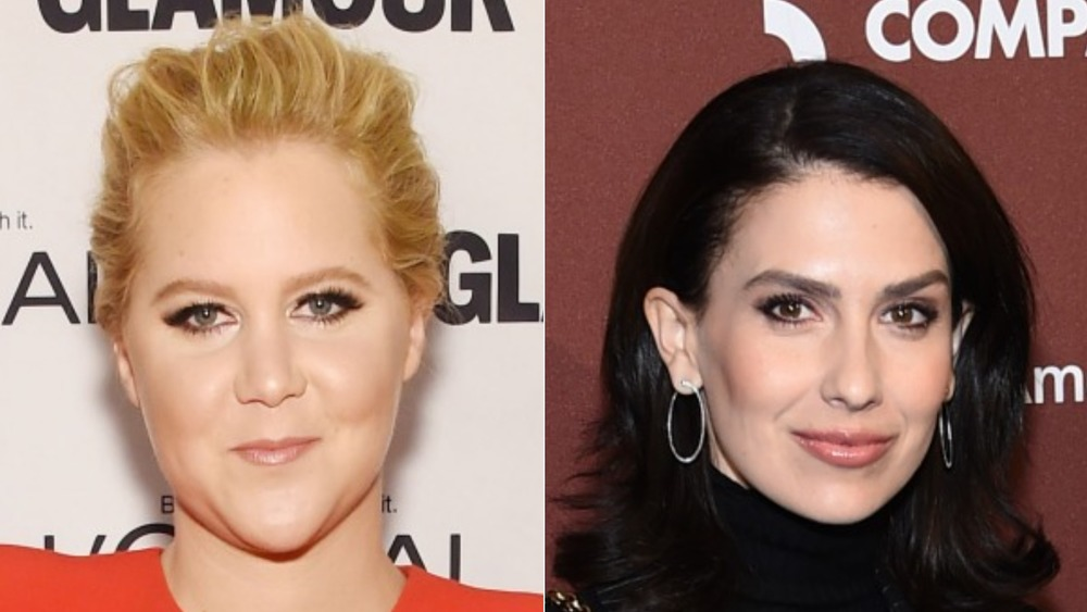Amy Schumer and Hilaria Baldwin smiling