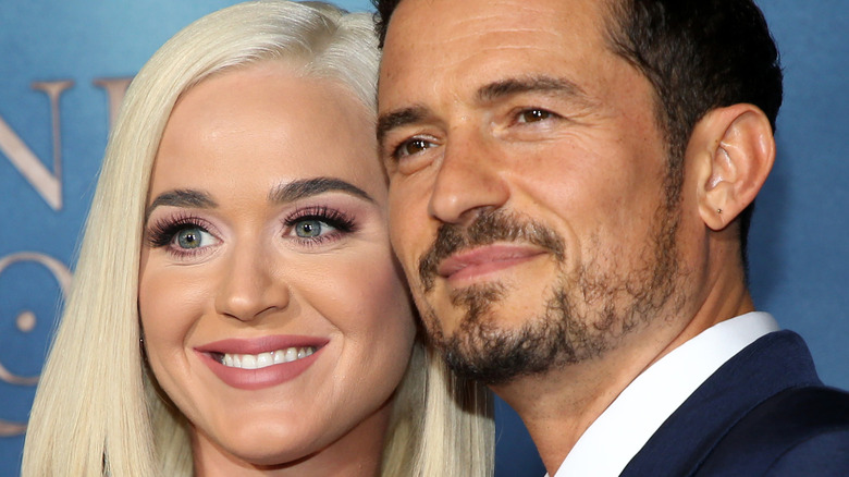 Katy Perry and Orlando Bloom smiling