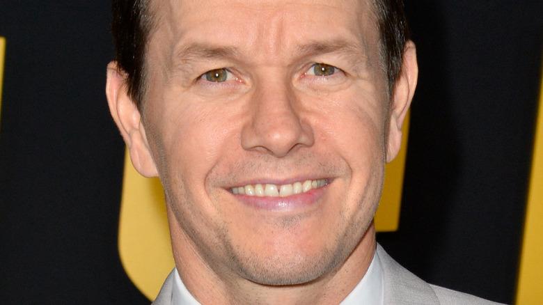 Mark Wahlberg smiling at movie premiere