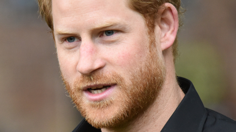 Prince Harry staring