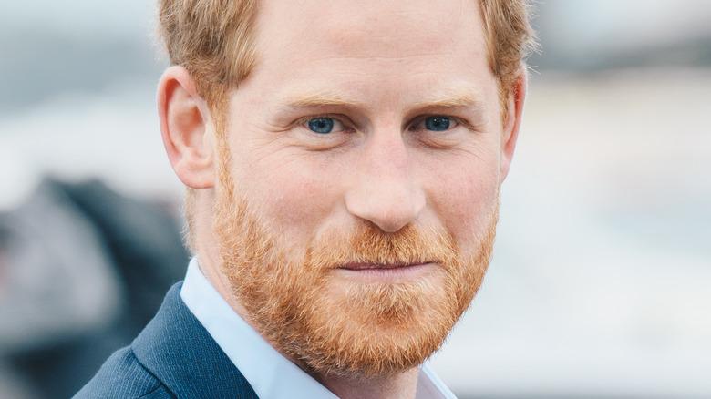 Prince Harry smirk