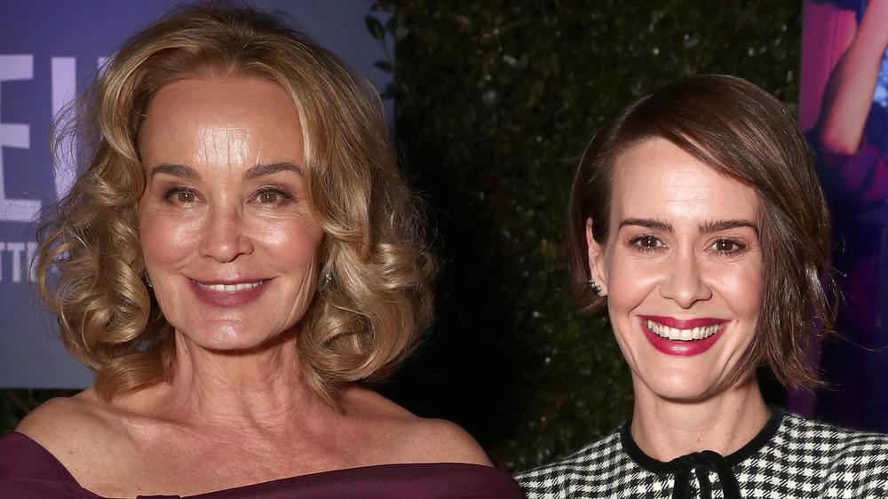 Jessica Lange and Sarah Paulson smile together