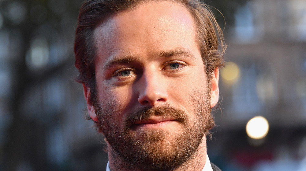 Armie Hammer looking serious