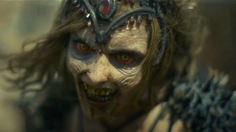 The Zombie Queen from 'Army of the Dead' glaring