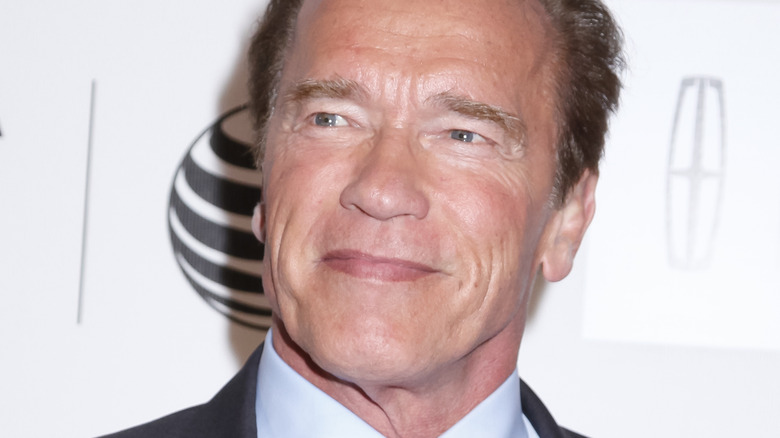Arnold Schwarzenegger smiling at an event