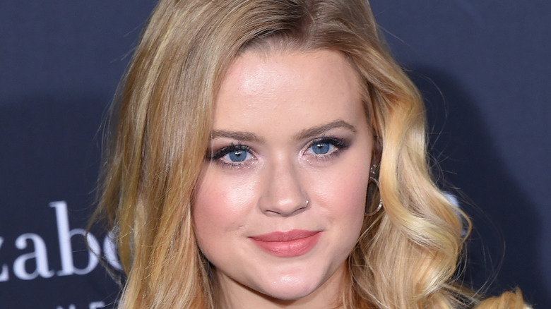 Ava Phillippe with close-lipped smile
