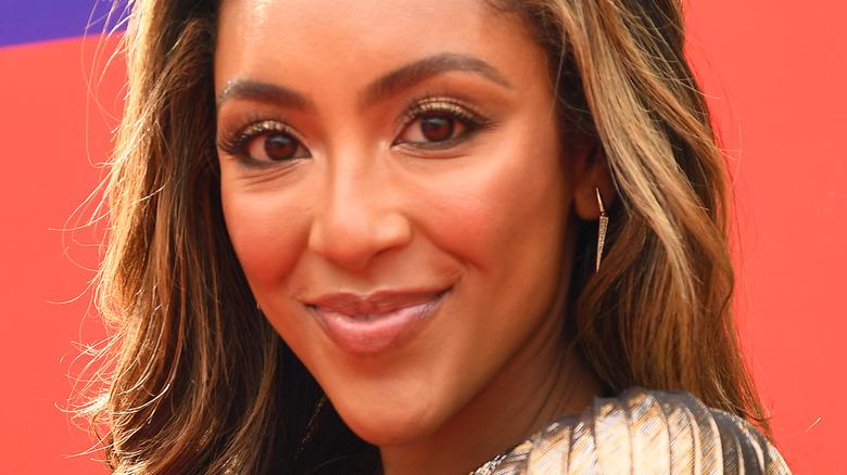 Tayshia Adams on the MTV red carpet