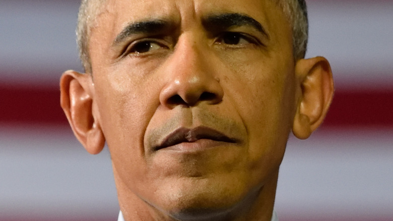 Barack Obama with a neutral expression