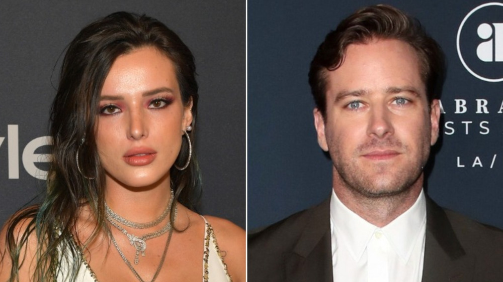 Bella Thorne and Armie Hammer side-by-side