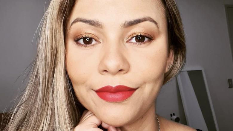 Danie Soares, selfie, filming Below Deck, 2021 photo