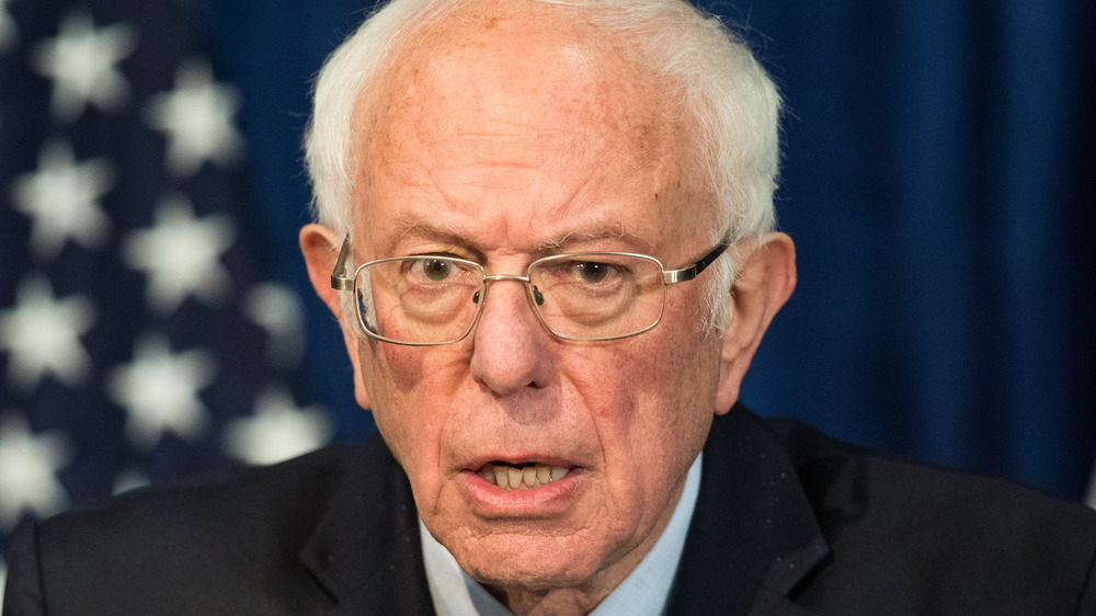 Bernie Sanders at the Hotel Vermont on March 11, 2020