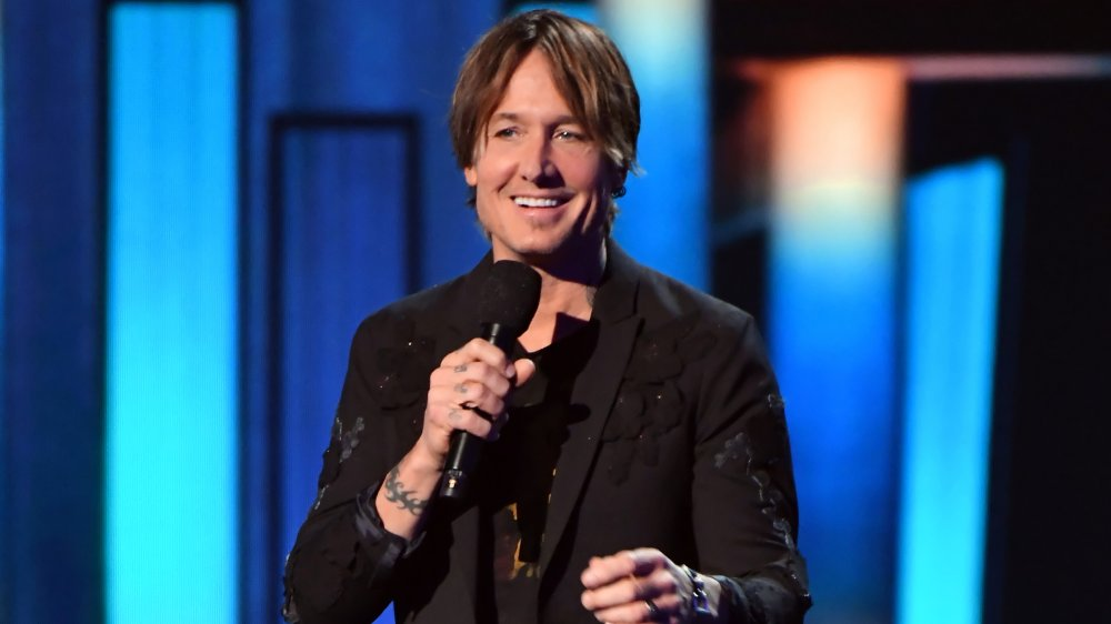 Keith Urban on stage at ACM Awards