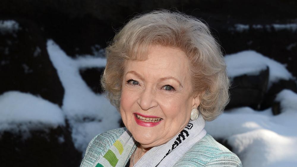 Betty White grinning
