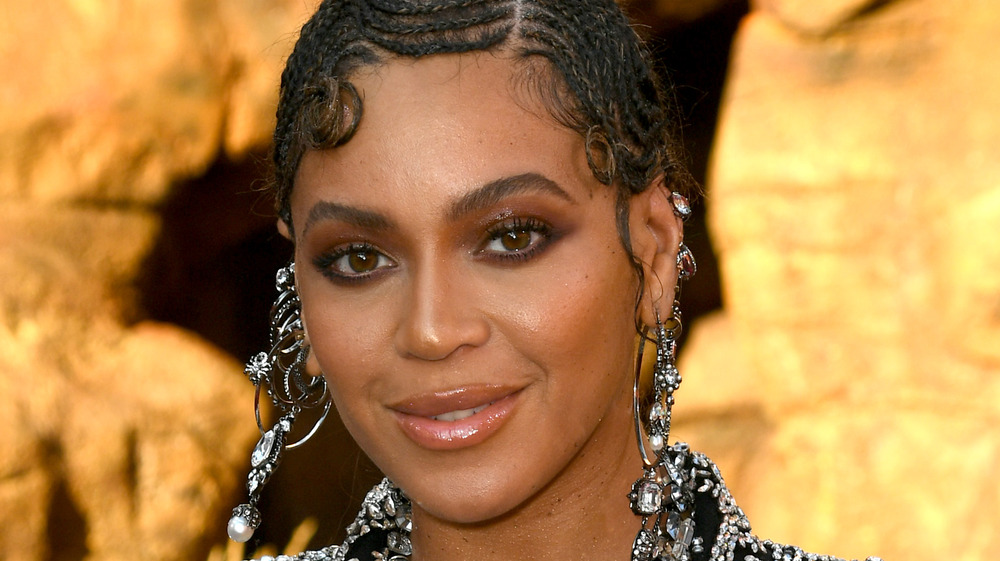 Beyonce on The Lion King movie premiere red carpet