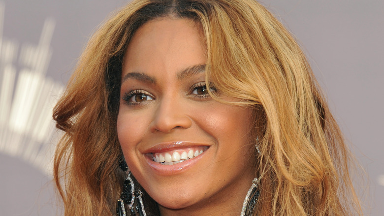 Beyonce smiling at an event