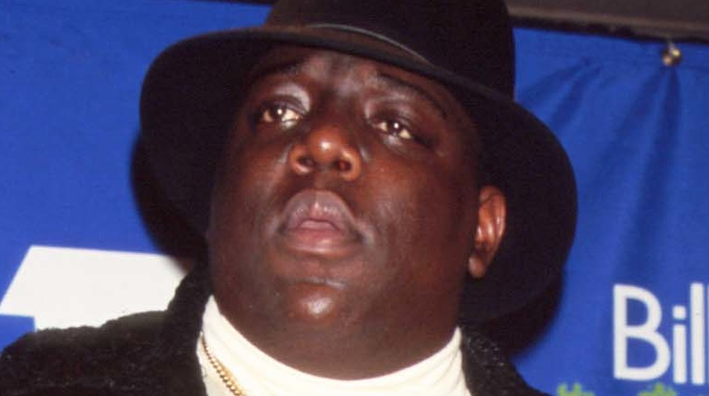 Biggie Smalls with a neutral expression