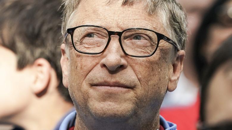Bill Gates in a crowd