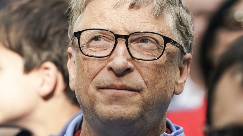Bill Gates looking