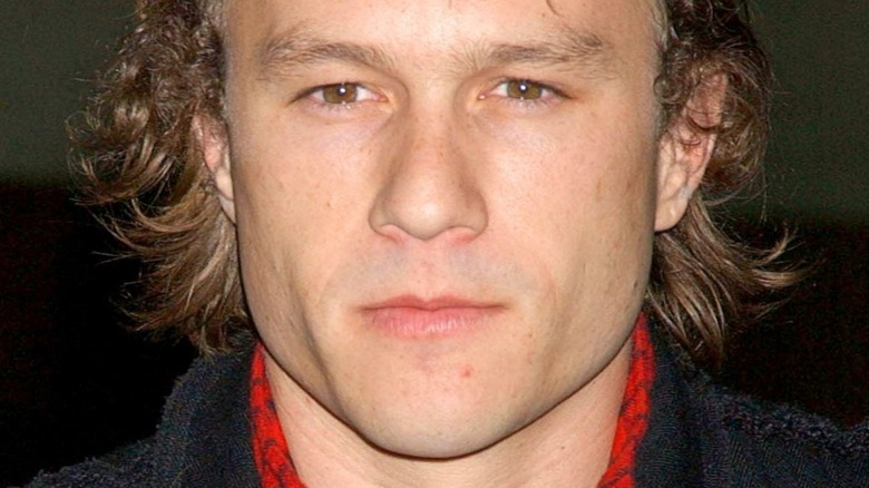Heath Ledger smirking