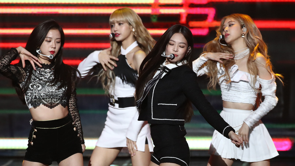 Blackpink performs on stage