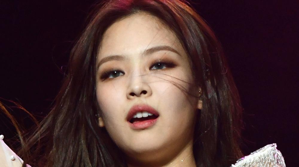 Blackpink's Jennie Kim performs on stage