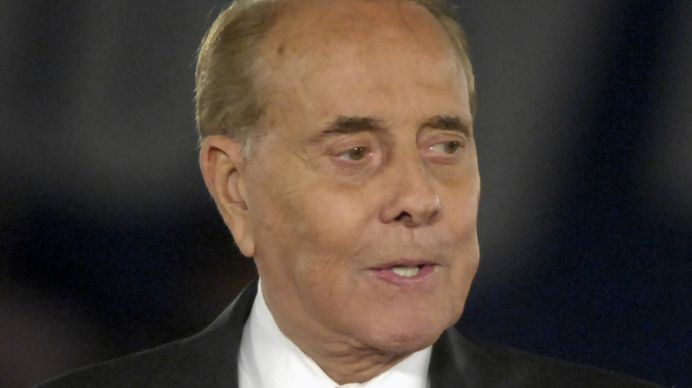 Bob Dole speaks at an event