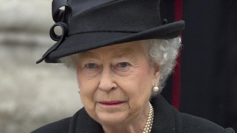 Queen Elizabeth II black hat