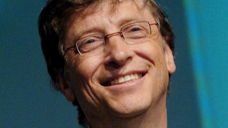 Bill Gates on a stage