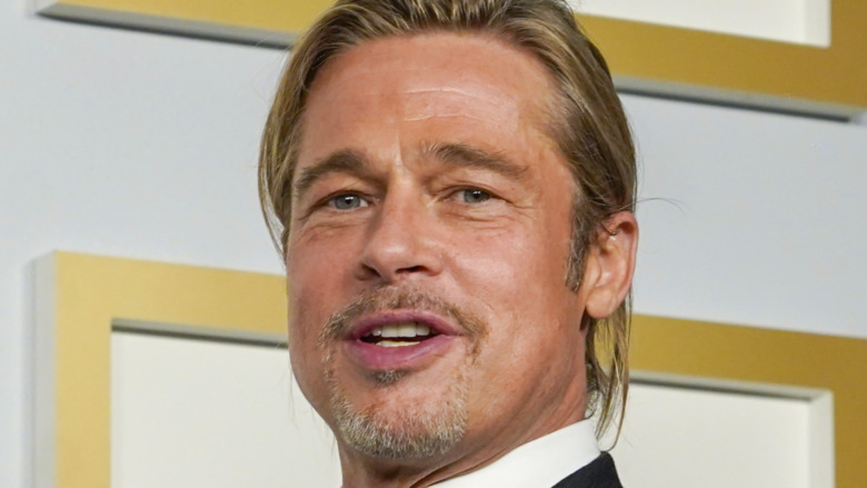 Brad Pitt at the 2021 Oscars