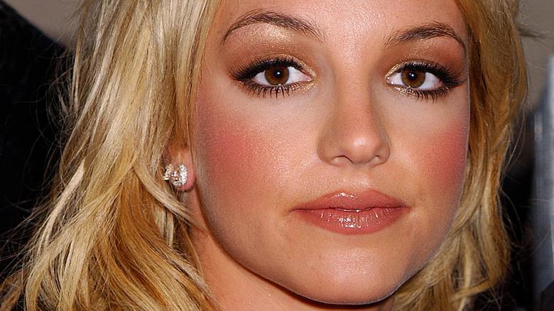 Britney Spears pink cheeks