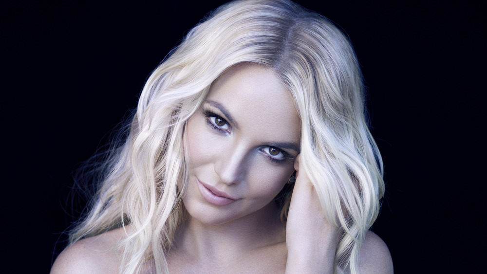 Britney Spears posing for a portrait