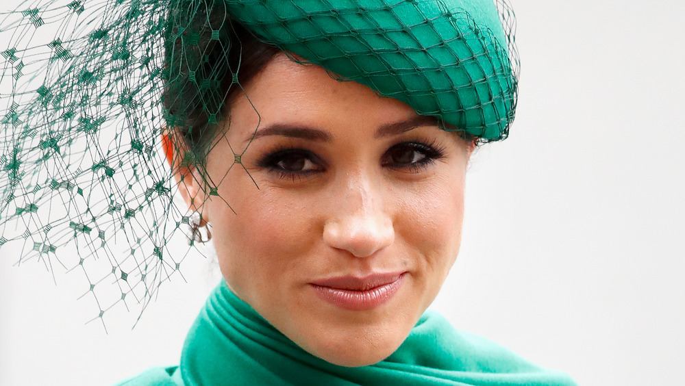 Meghan Markle wearing green at an event